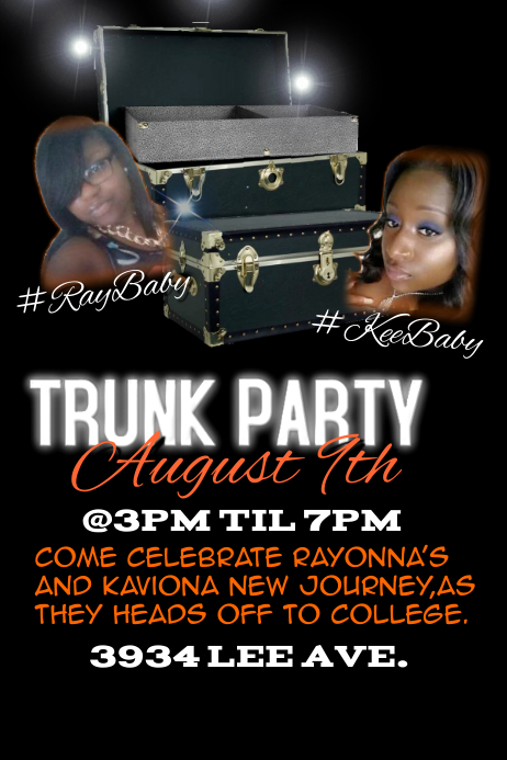 trunk party template postermywall