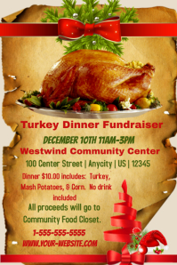 Turkey Dinner Fundraiser Template