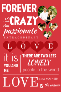 typography romantic collage template