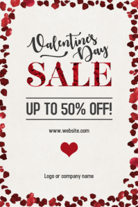 Valentine\'s Day Sale Poster