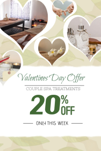 valentines day spa portrait template