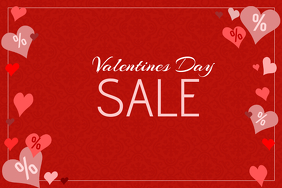 valentines day special sale red landscape poster template