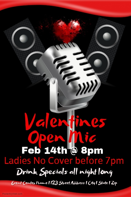 valentines open mic night template