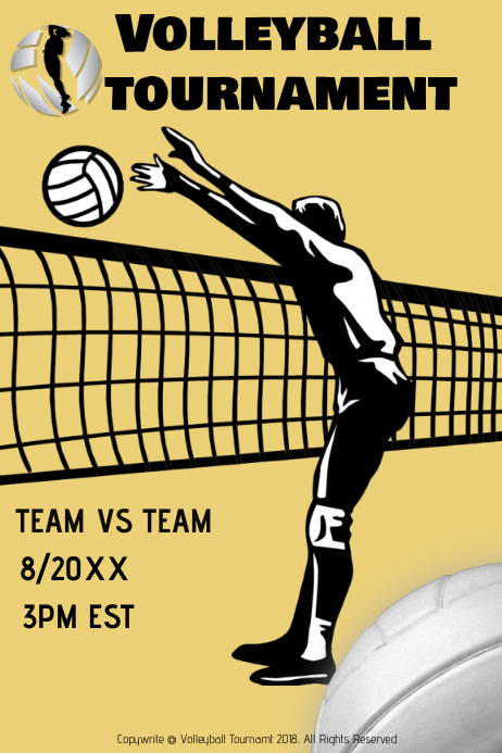volleyball tournament template