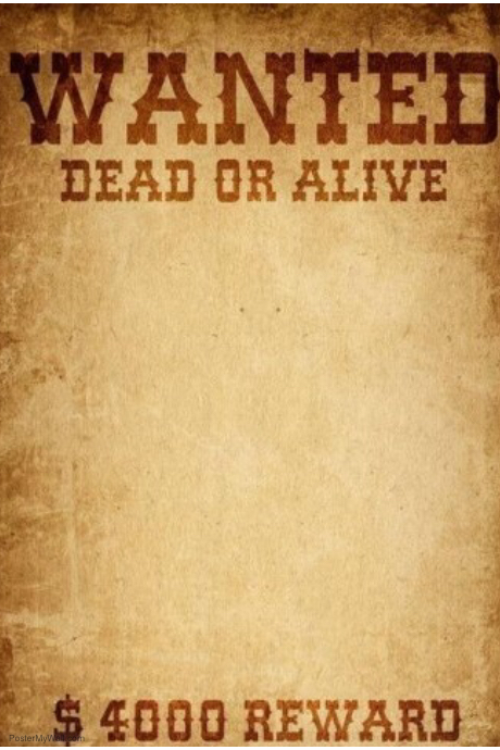 Wanted Dead or alive template | PosterMyWall