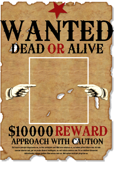 Wanted template | PosterMyWall
