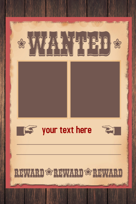 WANTED Poster Flyer template | PosterMyWall
