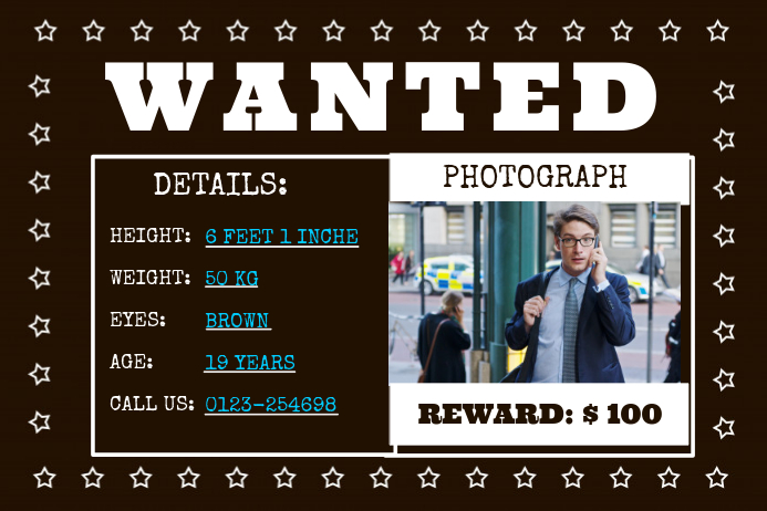 Wanted Poster Template | PosterMyWall