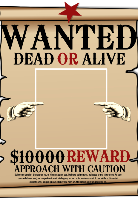 Wanted template postermywall for Wanted dead or alive poster template free