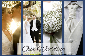 wedding or family collage landscape