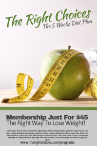 Weight Loss Poster Template