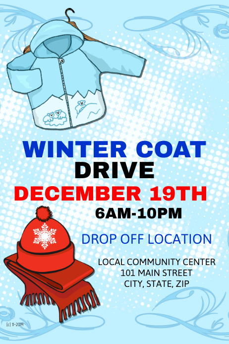 winter coat drive template