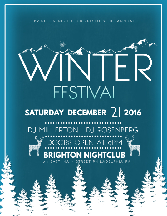 Winter Festival Template Postermywall