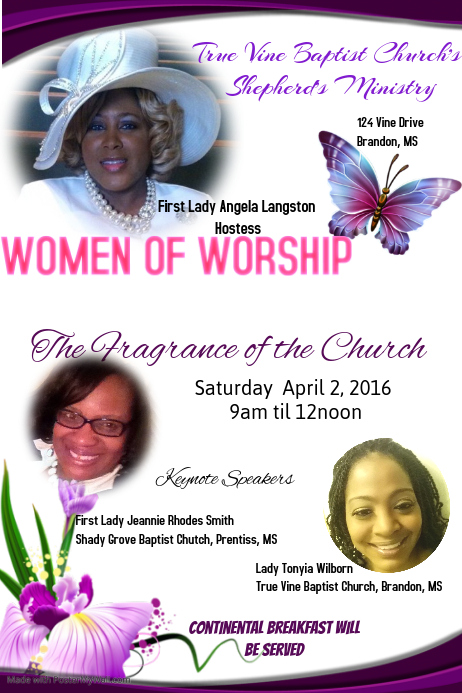 Women Of Worship The Fragrance Of The Church Template