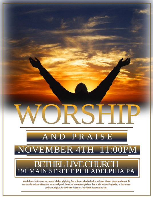 worship schedule template - worship template postermywall