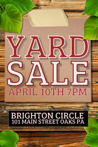 Yard Sale Flyer Templates
