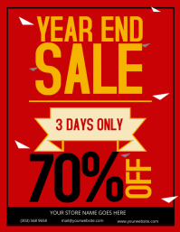Year End Sale Flyer Template