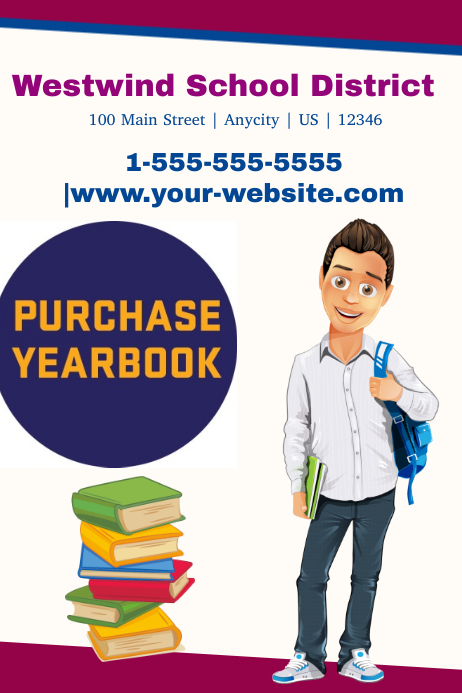 Yearbook template | PosterMyWall