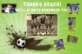 custom soccer sports team poster idea