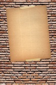 banner on brick wall poster background