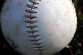baseball closeup flyer background