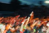 concert crowd flyer background