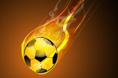 soccerball on fire flyer background